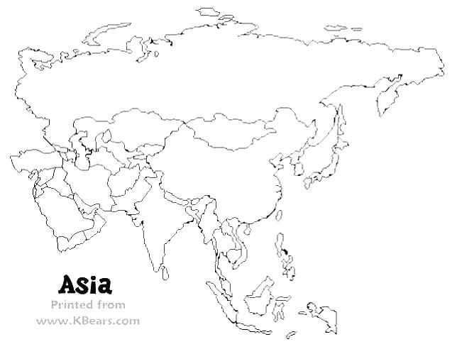 644x492 Continent Coloring Pages Map Asian Continent Coloring Sheet