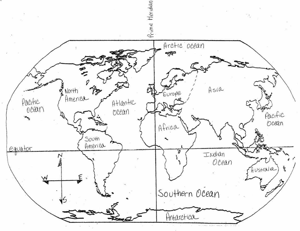 1250x962 Continents Coloring Page