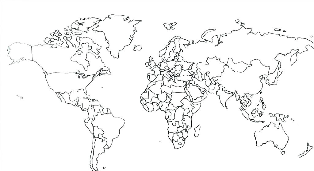 1024x556 Continents Coloring Page Continents Coloring Page World Map