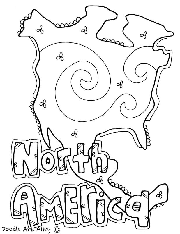618x800 Continents Coloring Pages