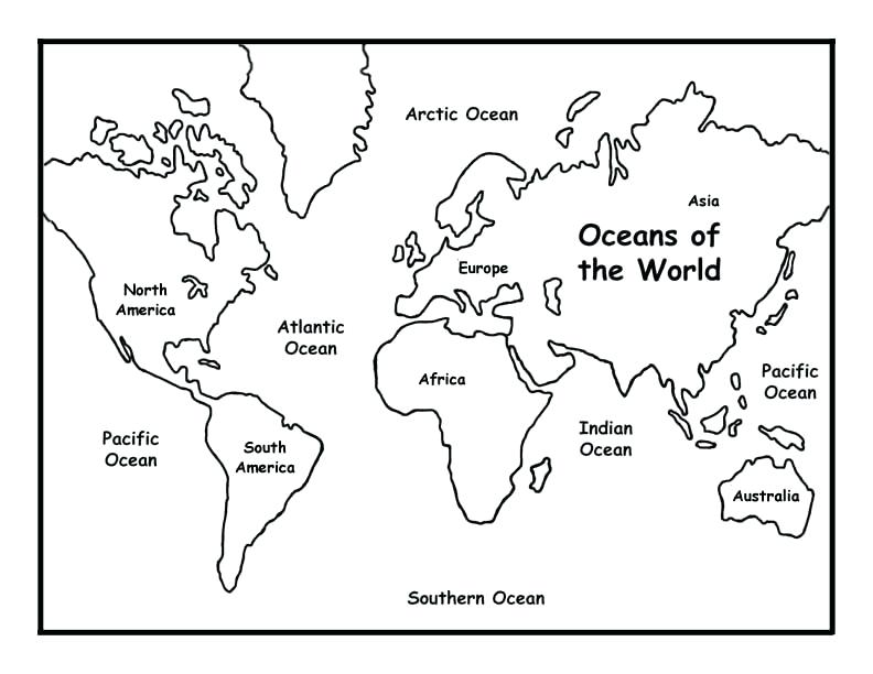 792x612 Map Coloring Pages Continents Map Coloring Pages Blank Continent