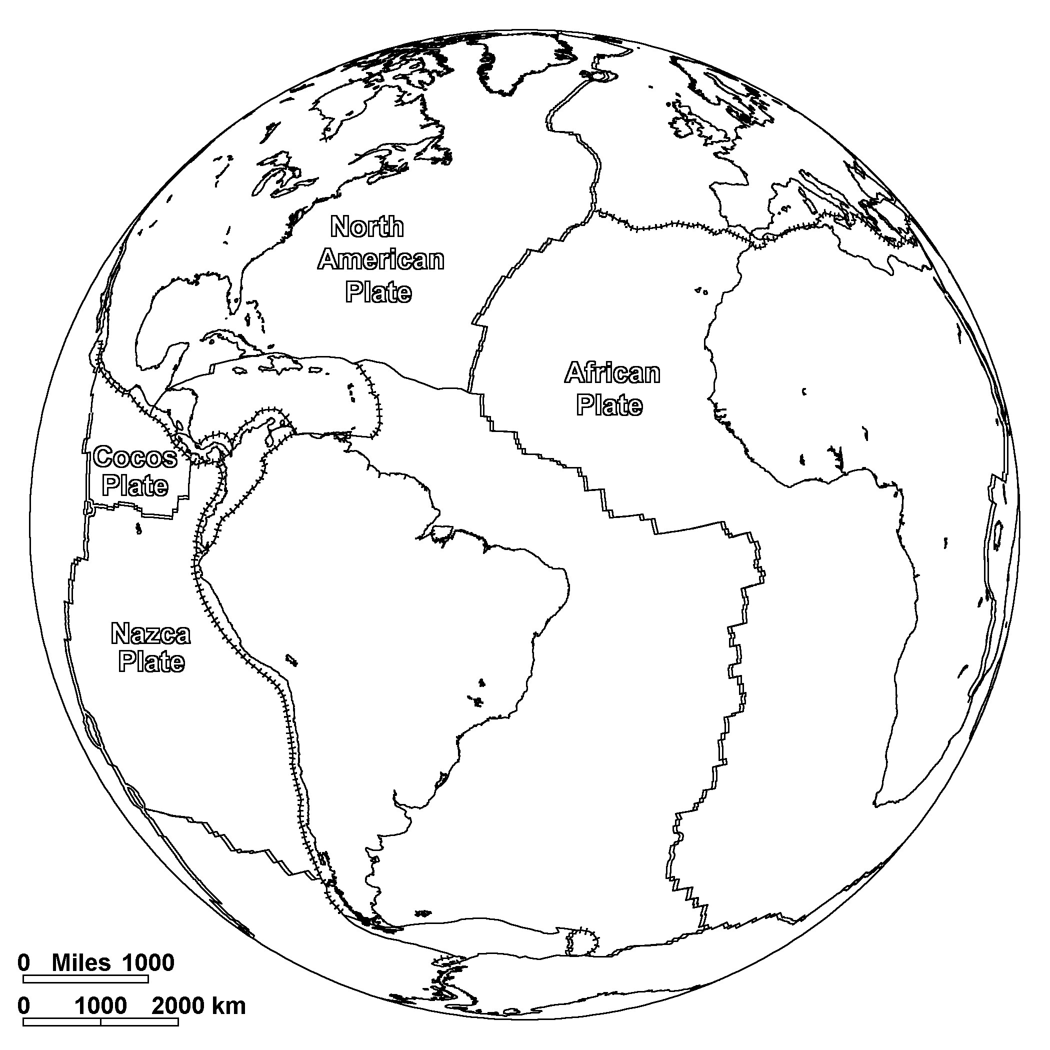 2100x2100 World Map Coloring Pages For Kids Continents Page