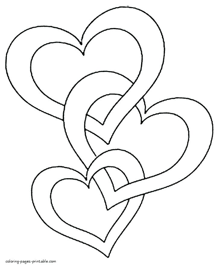 736x887 Valentine Heart Coloring Pages And Heart Coloring Pages Valentine