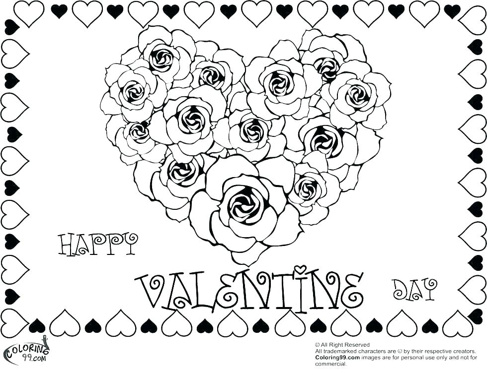980x750 Valentine Hearts Coloring Pages Kids Valentine Coloring Pages Free