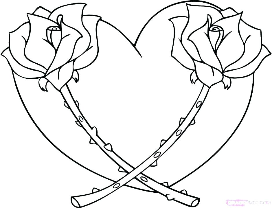 940x719 Valentine Hearts Coloring Pages Valentines Heart Coloring Pages