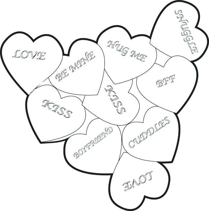 693x700 Valentines Hearts Coloring Pages Heart Coloring Pages To Print