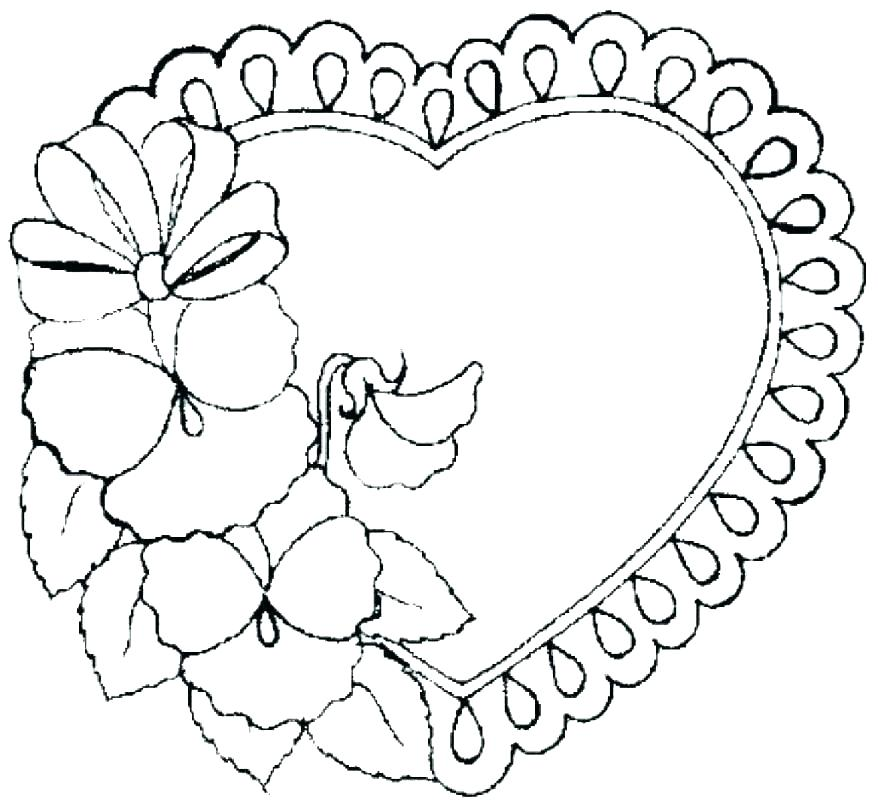 878x807 Valentines Hearts Coloring Pages Valentine Printable Coloring