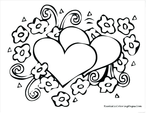 618x479 Valentine Hearts Coloring Pages