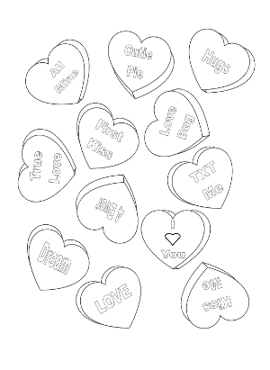 300x411 Candy Heart Coloring Pages Best Ideas For Printable And Coloring