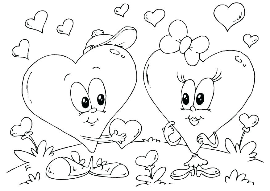 875x620 Coloring Page Of A Heart Valentines Hearts Coloring Pages Hearts