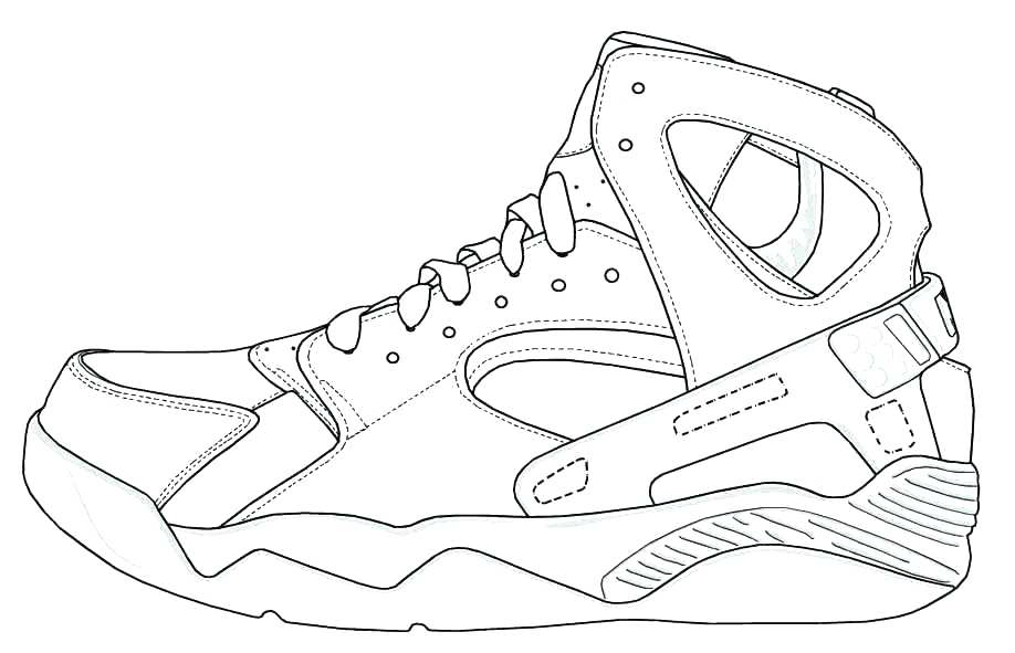 918x591 Sneaker Colouring Page