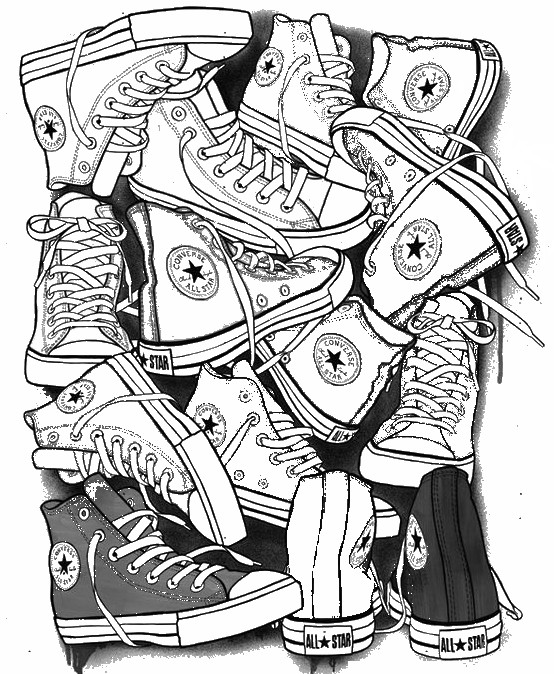 554x674 Adult Coloring Page Shoes Converse All Star