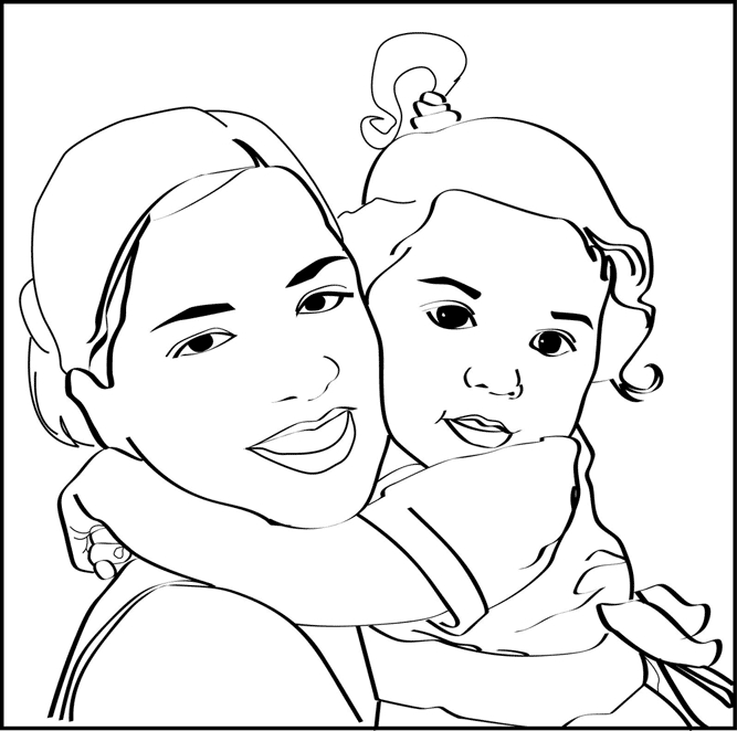 667x662 Convert Pictures To Coloring Pages Convert Picture To Coloring