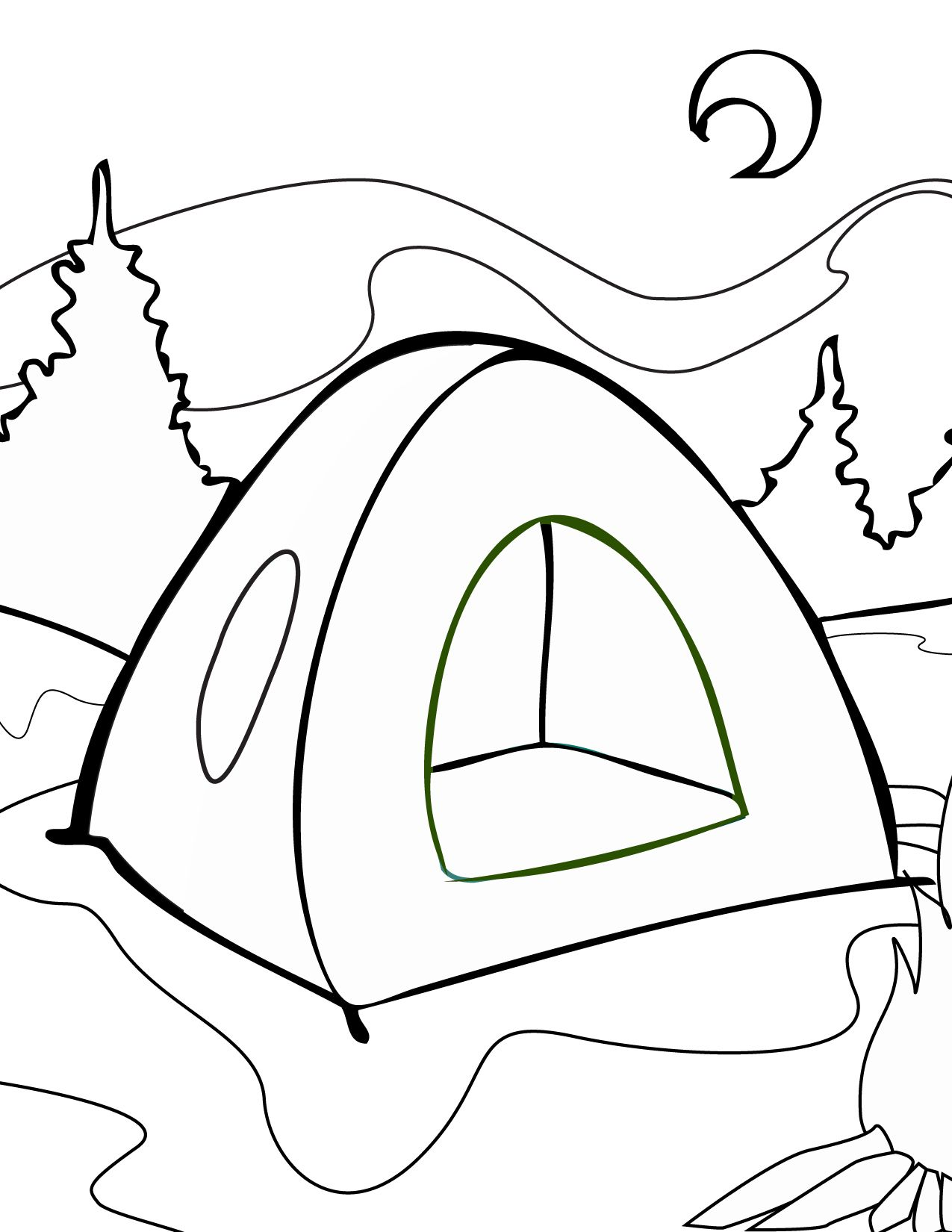 1275x1650 Camping Tent Coloring Pages Look