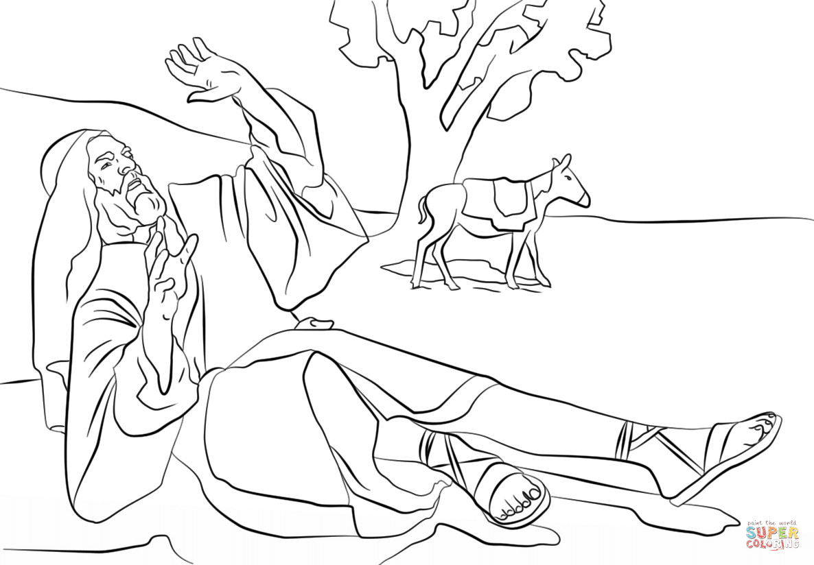 1186x824 Entrancing Paul On The Road To Damascus Coloring Page Saul