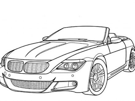 Convertible Car Coloring Pages