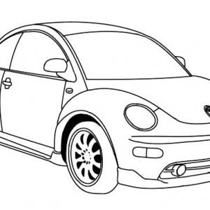 300x300 European Convertible Beetle Car Coloring Pages European