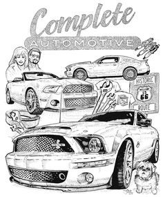 236x285 Convertible Ford Mustang Car Coloring Page