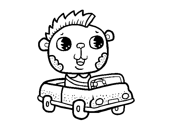 600x470 Drive A Convertible Coloring Page