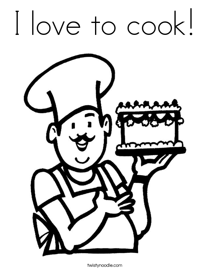685x886 Cook Coloring Page