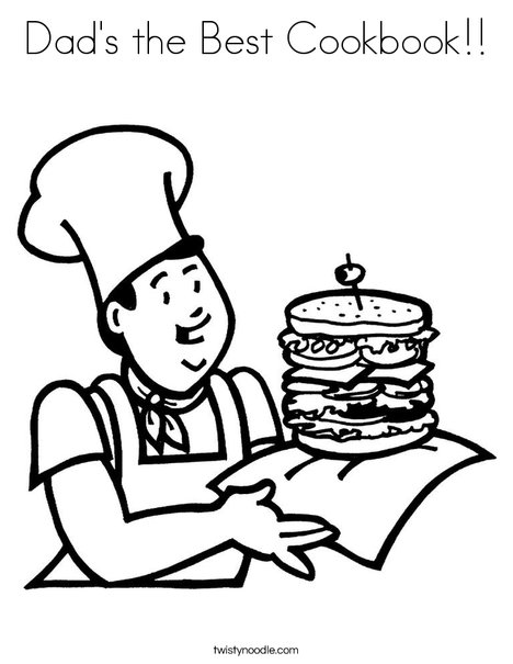 468x605 Dad's The Best Cookbook Coloring Page