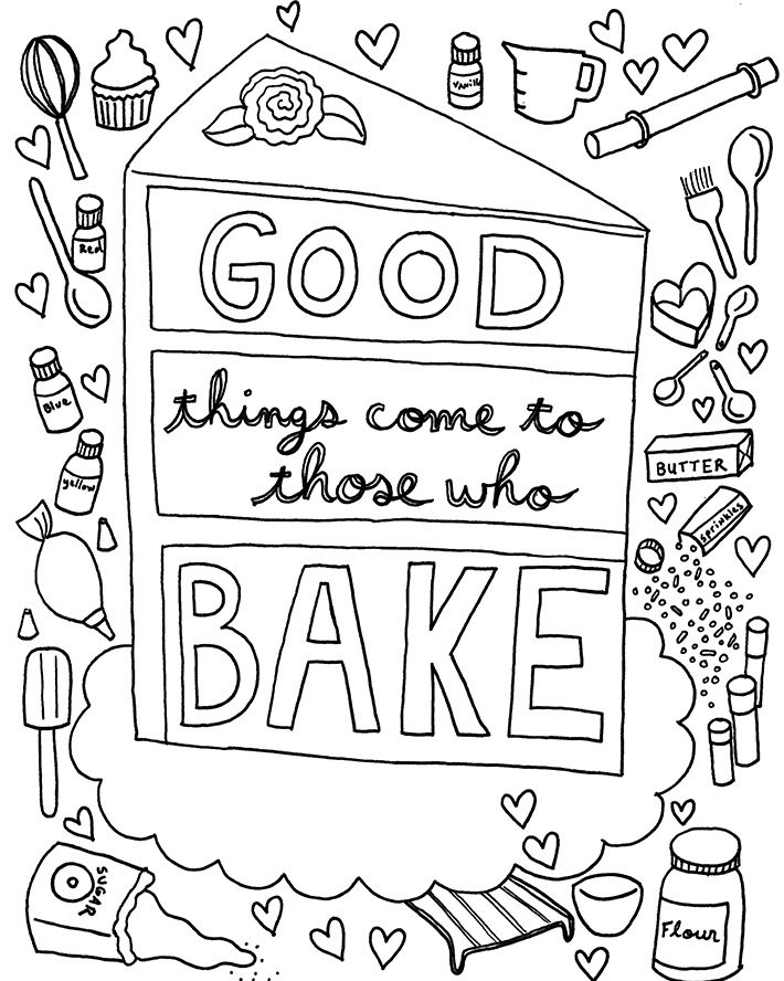 710x888 Download A Free Coloring Book Page Designed Just For Cake
