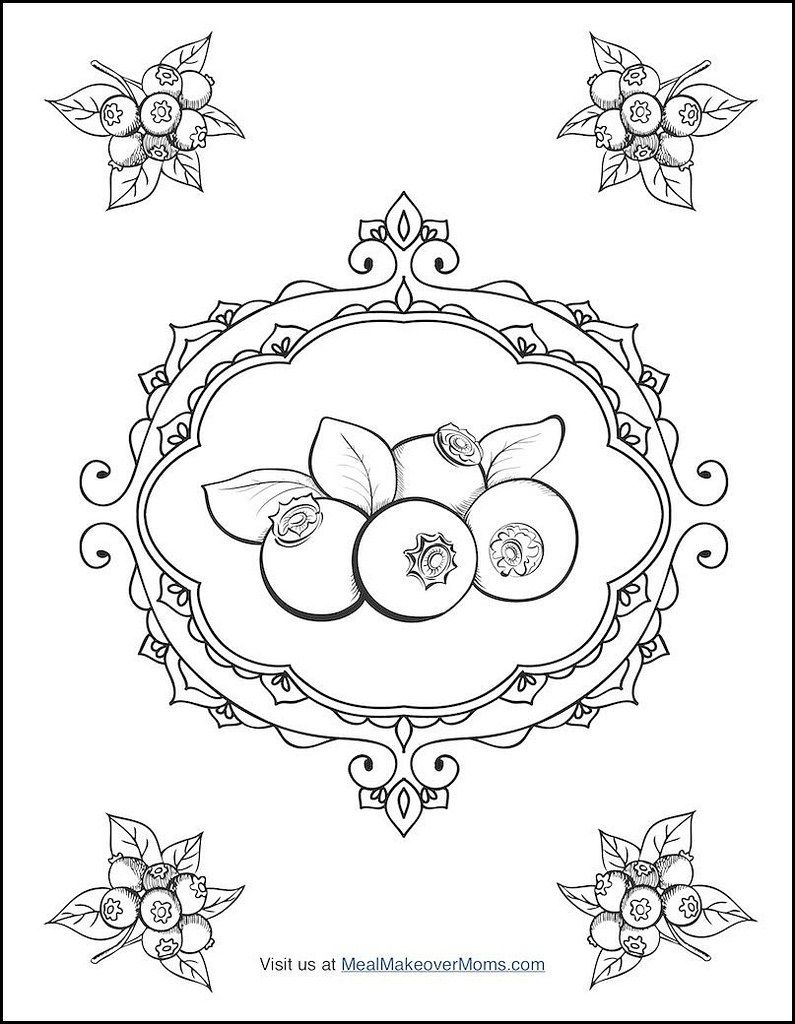795x1024 Free Coloring Pages In The Smoothie Bowl Coloring Cookbook