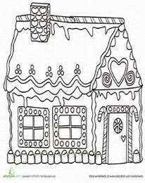 206x260 Image Result For Gingerbread House Coloring Pages Doodle Ideas