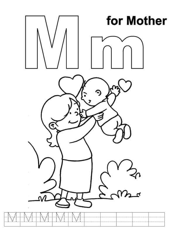 595x842 Free Printable Mother's Day Coloring Pages