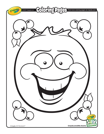 433x560 Silly Scents Blueberry Coloring Page Free Coloring Pages