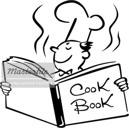 450x448 Cookbook Clipart A Chef Opening A Cook Bookjpg
