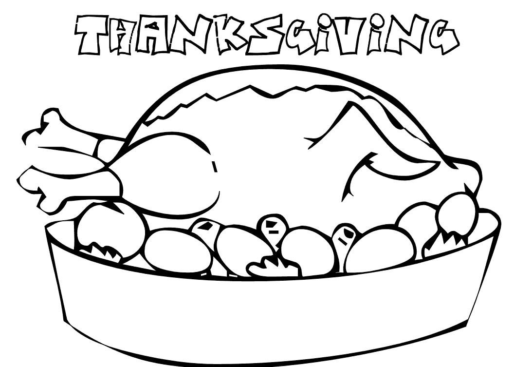 1056x753 Coloring Pages For Thanksgiving Di On Cooked Turkey Coloring Pages