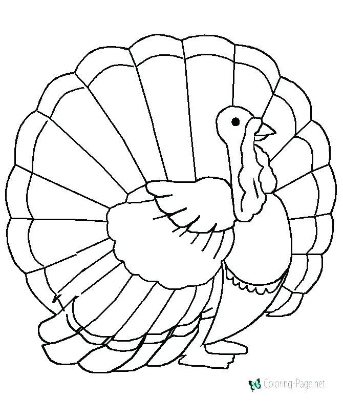 670x820 Images Of Turkeys For Coloring Turkey Coloring Pictures Printable