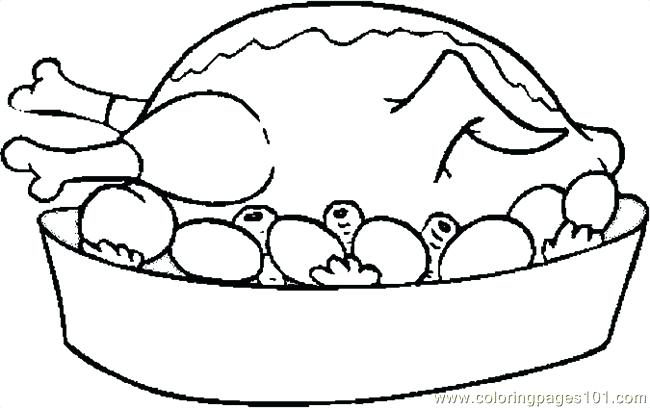 650x408 Thanksgiving Turkey Coloring Pages Turkey Cooked Coloring Page