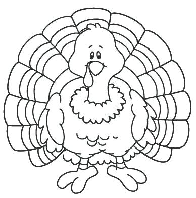 388x392 Turkey Coloring Page Turkey Cooked Coloring Page Thanksgiving