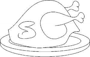 300x191 Turkey Coloring Pages For Kids