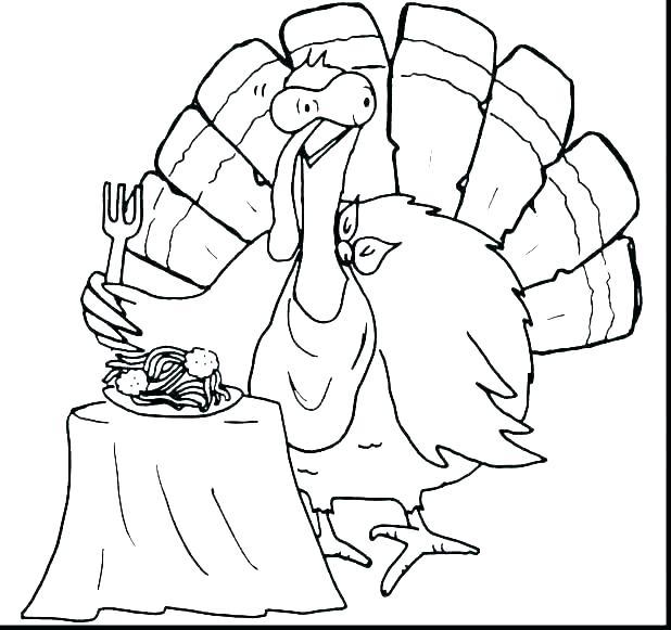 618x581 Turkey Coloring Sheets To Print Turkey Coloring Page Preschool