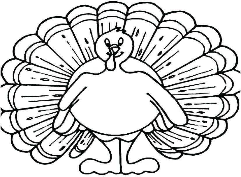 827x609 Turkeys Coloring Pages Coloring Turkeys Coloring Page Of Turkey