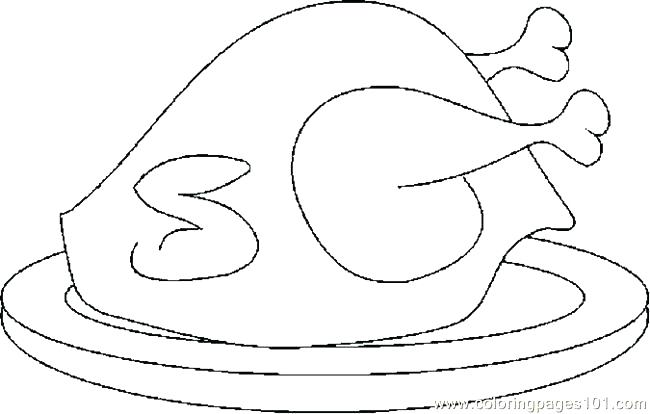 650x414 Cooked Turkey Coloring Pages