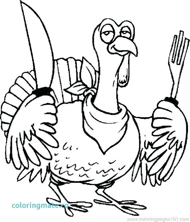650x758 Turkey Color Pages