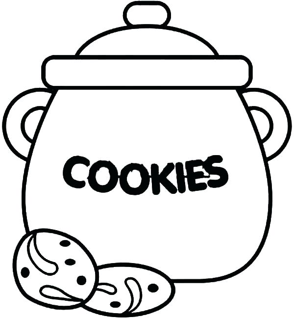 600x650 Cookie Coloring Page Cookie Jar How To Draw Cookie Jar Coloring