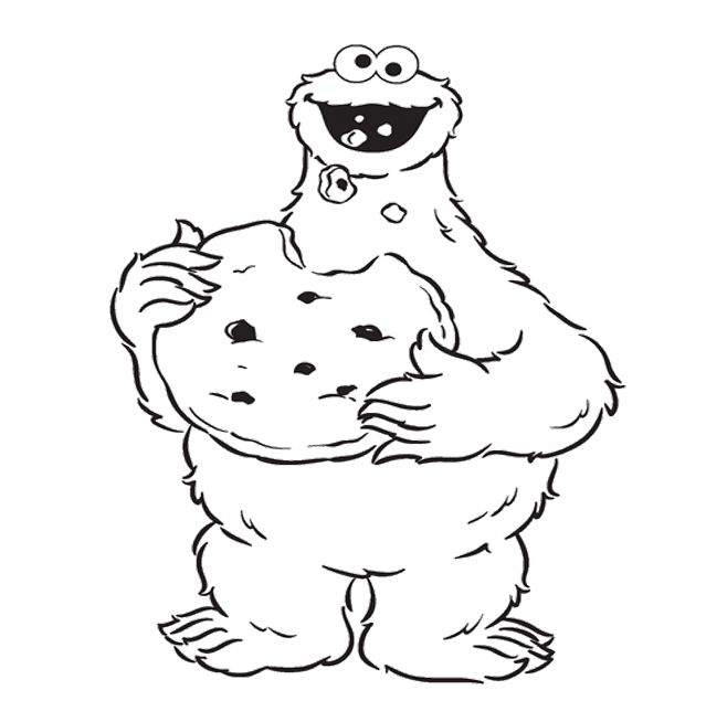 658x654 Cookie Monster Coloring Pages Cookie Monster Eat Cookie Coloring
