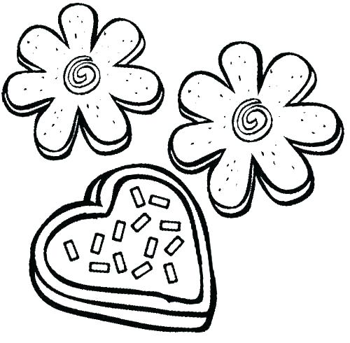 500x490 Cookie Coloring Pages Cookie Coloring Pages Cookie Coloring Page