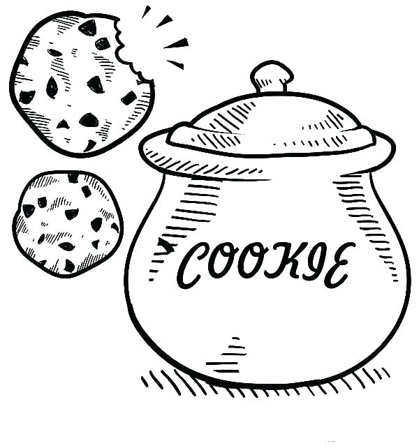 600x642 Cookie Coloring Pages Cookie Coloring Pages Cookie Monster