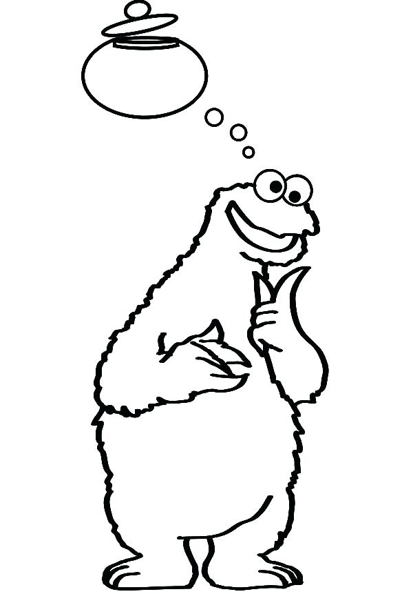 600x861 Lovely Mason Jar Coloring Page And Cookie Monster Thinking