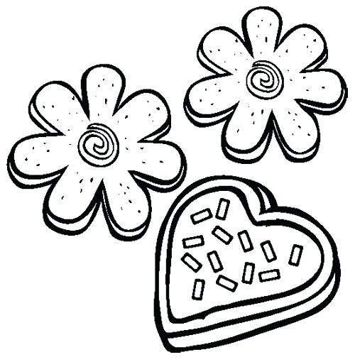 500x510 Cookie Coloring Page Cookie Jar Coloring Page