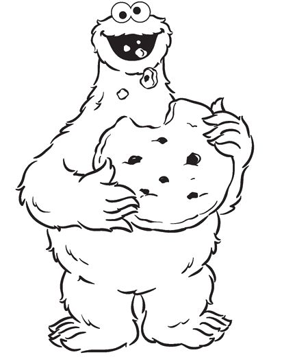 Cookie Monster Coloring Page
