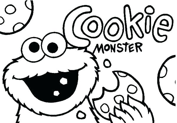 600x418 Monster Coloring Pages To Print Cookie Monster Coloring Sesame