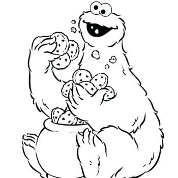 350x350 Cookie Coloring Pages Cookie Coloring Pages Cookie Monster Love