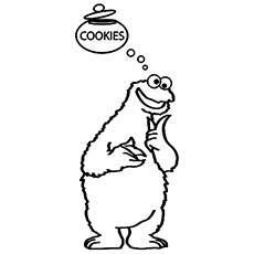 photograph about Printable Cookie Monster Face identified as Cookie Monster Confront Coloring Web pages at  Absolutely free